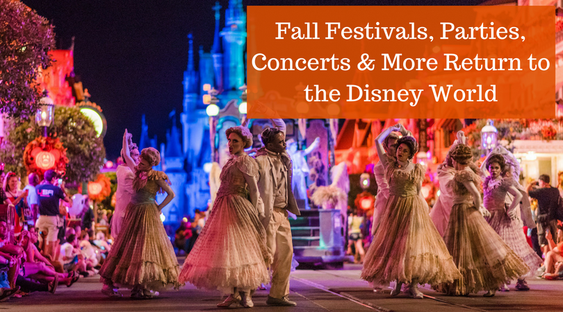 Fall Festivals, Parties, Concerts & More Return to the Disney World