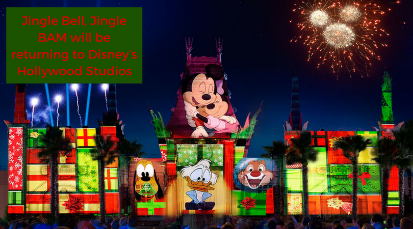 Jingle Bell, Jingle BAM will be returning to Disney's Hollywood Studios