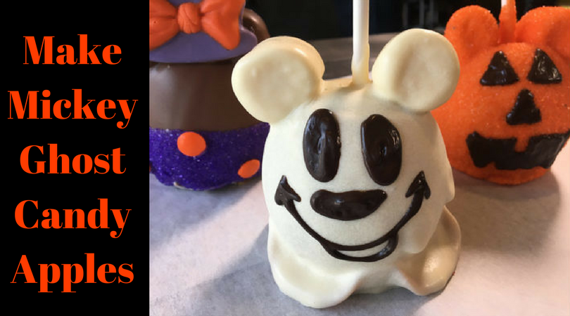 Mickey Ghost Candy Apples