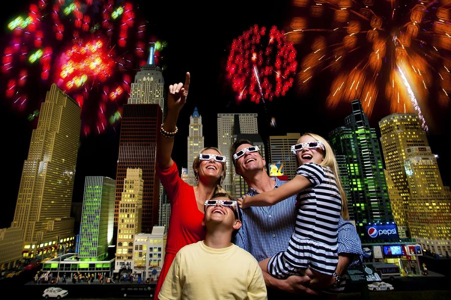 WINTER HAVEN, FL -- LEGOLAND Florida Gets The New Yearâ??s Party Started Early With A Countdown To Kidsâ?? New Yearâ??s Eve That Features Nightly Fireworks Over Lake Eloise Dec. 26-30 With Special Viewing Glasses That Turn Ordinary Fireworks Into Millions Of Exploding LEGO Bricks. Plus, The Whole Family Can Enjoy A Family-friendly Party With A Kidsâ?? New Yearâ??s Eve Bash On Dec. 31 With A Specktacular Fireworks Show And A Chance To Watch The BRICK Drop At Just The Right Time For Kids, Midnight KST (Kid Standard Time) - Otherwise Known As 7 P.m. EST. (PHOTO/LEGOLAND Florida, Merlin Entertainments Group, Chip Litherland).